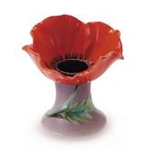Franz Porcelain Poppy Flower Taper Candleholder, MPN: FZ01975