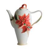 Franz Porcelain Poinsettia Flower Teapot, MPN: FZ00893