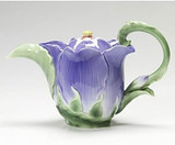 Franz Porcelain Periwinkle Flower Teapot, MPN: FZ00990