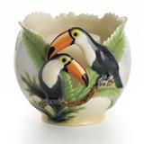 Franz Porcelain Paradise Calls Toucans Candle Holder, MPN: FZ00409