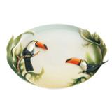 Franz Porcelain Paradise Calls Toucan Ornamental Platter, MPN: FZ00403