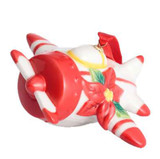 Franz Porcelain Holiday Greetings Red White Airplane Ornament, MPN: FZ02768