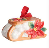 Franz Porcelain Holiday Greetings Christmas Sleigh Ornament, MPN: FZ02773