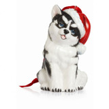 Franz Porcelain Holiday Classic Husky Dog Ornament, MPN: FZ02380