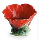 Franz Porcelain Common Poppy Flower Tealight Holder, MPN: FZ01068