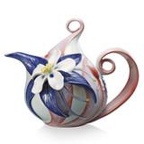 Franz Porcelain Columbine Wildflowers Teapot, MPN: FZ02085