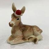 Franz Porcelain Christmas Village Donkey Figurine, MPN: FZ02784