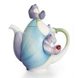 Franz Porcelain Blooming Bluebonnets Collection Teapot, MPN: FZ02290