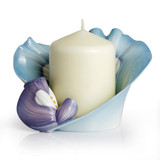 Franz Porcelain Blooming Bluebonnets Collection Candle Holder, MPN: FZ02251