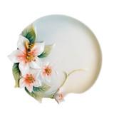 "Franz Porcelain Bee & Apple Blossom Flower Ornamental Platter 6 1/2""L, MPN: FZ00706"