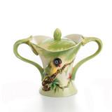 Franz Porcelain Amazon Rain Forest Parrot Sugar Jar With Cover, MPN: FZ00835