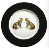 Halcyon Days MW Twin Leopards Black 6 Inch Plate, MPN: BCMWL026PG