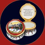 Halcyon Days The Annual Christmas Box 2021 Enamel Box, MPN: ENCH210101G