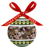 Halcyon Days Dogs leave pawprints on your heart Bauble Ornament, MPN: BCDLP01XBN