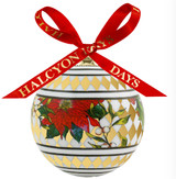Halcyon Days Parterre Gold with Poinsettia Bauble Ornament, MPN: BCPAF16XBN