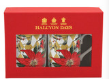 Halcyon Days Parterre Gold with Poinsettia Mug Set, MPN: BCPAF16MSG