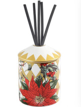 Halcyon Days Parterre Gold with Poinsettia Reed Diffuser, MPN: BCPAF16DFG