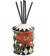 Halcyon Days Parterre Black with Poinsettia Reed Diffuser, MPN: BCPAF02DFG