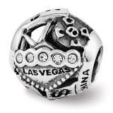 Swarovski Las Vegas Collage Bead - Sterling Silver QRS3430