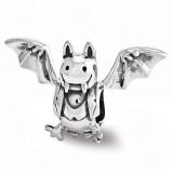 Bat Bead - Sterling Silver QRS3450