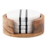 Juliska Stonewood Stripe Coaster Set MPN: MS10/390, UPC: 810882036666