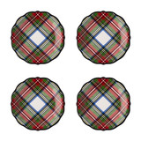 Juliska Stewart Tartan Cocktail Plates, Set of 4 MPN: TN03SET/88, UPC: 810034832269