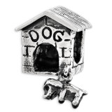 Dog House Dangle Bead - Sterling Silver QRS3511