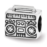 Boombox Bead - Sterling Silver QRS3515