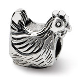 Chicken Bead - Sterling Silver QRS381