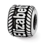 Personalized Name Bead - Sterling Silver QRSXNA1