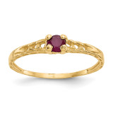 Madi K 3mm Ruby Birthstone Baby Ring - 14k Gold GK130