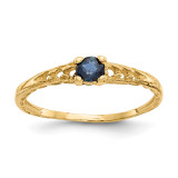 Madi K 3mm Saphire Birthstone Baby Ring - 14k Gold GK132