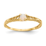 Madi K 3mm Opal Birthstone Baby Ring - 14k Gold GK133