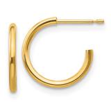 Madi K Hoop Screwback Earrings - 14k Gold GK266