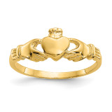Madi K Claddagh Baby Ring - 14k Gold GK296 Size 1