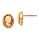 Madi K Cameo Post Earrings - 14k Gold SE1140