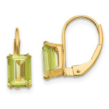 Madi K Emerald Shape Peridot Earrings - 14k Gold SE1150