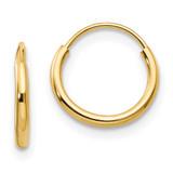 Madi K Endless Hoop Earrings - 14k Gold SE183