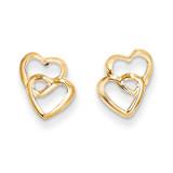Madi K Hearts Post Earrings - 14k Gold SE2040