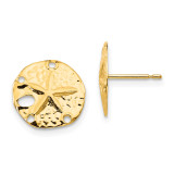 Madi K Sand Dollar Post Earrings - 14k Gold SE2056