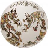 Gien Chevaux Du Vent Handpainted Large Wall Platter, MPN: 1771CF1103, UPC/EAN: 840769094786