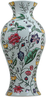 Gien Dominote Handpainted Japanese Potiche Floral Earth Grey, MPN: 1846CPJ200, UPC/EAN: 840769086156