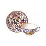 Gien Pivoines Breakfast Cup & Saucer , MPN: 0120PTDE26, UPC/EAN: 840769007076
