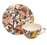 Gien Pivoines Tea Cup & Saucer , MPN: 0120PTHE26, UPC/EAN: 840769007083