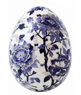 Gien Pivoines Bleues Egg Large, MPN: 1665COE400, UPC/EAN: 840769026015