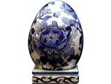 Gien Pivoines Bleues Egg On Stand , MPN: 1665SPO300, UPC/EAN: 840769003160