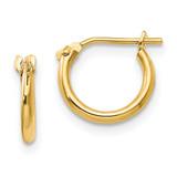 Madi K 1.25mm Half Hoop Earrings - 14k Gold SE232