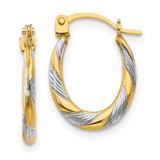 Madi K Twist Hoop Earrings - 14k Gold SE2380