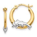 Madi K Dolphin Hoop Earrings - 14k Gold SE2420