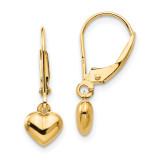 Madi K Puffed Heart Drop Earrings - 14k Gold SE945